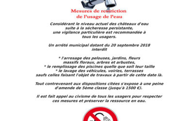 Restrictions d'eau